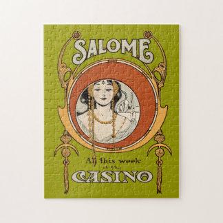 Vintage Art Nouveau Theater Casino Woman Design Jigsaw Puzzle