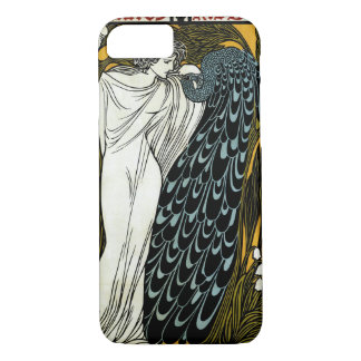 Vintage Art Nouveau This Kiss, Woman with Peacock iPhone 8/7 Case