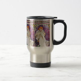 Vintage Art Nouveau Travel Mug - by Mucha