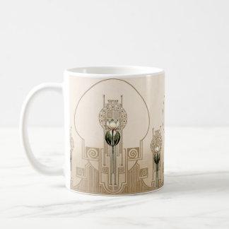 Vintage Art Nouveau Tulips Coffee Mug