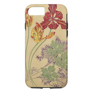 Vintage Art Nouveau Tulips iPhone 7 Case