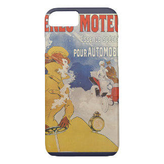 Vintage Art Nouveau, Woman Antique Convertible Car iPhone 8/7 Case
