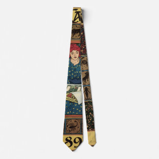 Vintage Art Nouveau, Woman Reading Astrology Book Tie