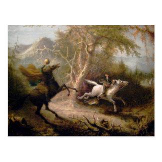 Vintage Art of Sleepy Hollow Postcard