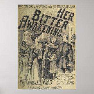 """Vintage Art Poster """"Her Bitter Awakening"""""""
