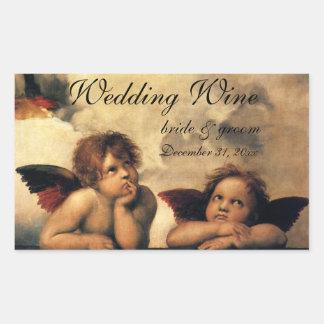 Vintage Art, Sistine Madonna Angels by Raphael Sticker