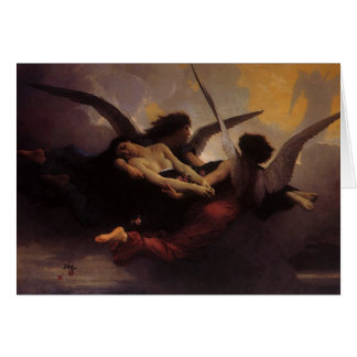 Vintage Art, Soul Brought to Heaven by Bouguereau Card