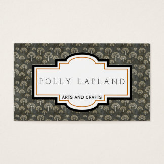 Vintage arts and crafts business card