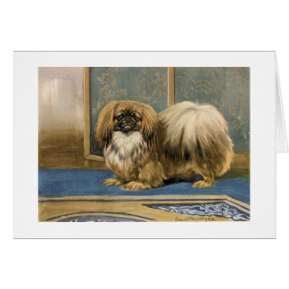 Vintage Artwork of Pekingese Dog, Card