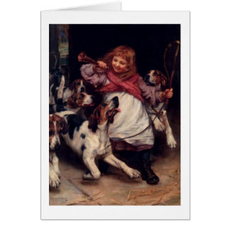 Vintage Artwork - The Foxhounds are Ready, Card