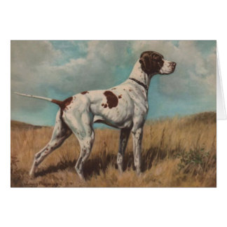 Vintage Artwork - The Pointer Dog, Card