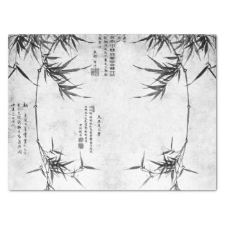 Vintage Asian Chinese Bamboo Art Tissue Paper