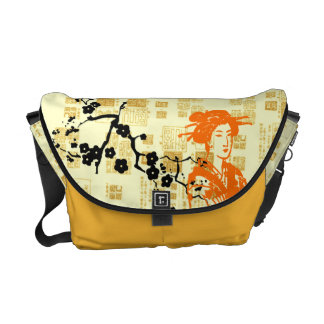 Vintage Asian Collage Commuter Bags