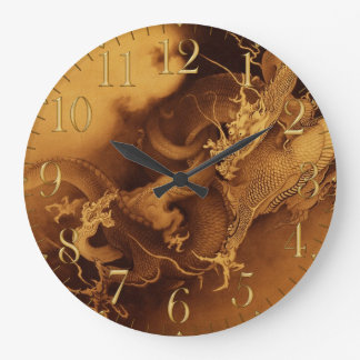 Vintage Asian Dragon Fantasy Art Clock