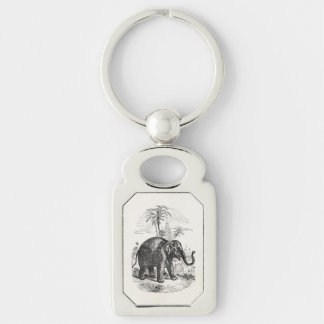 Vintage Asian Elephant Personalized Elephants Keychain
