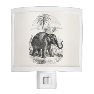 Vintage Asian Elephant Personalized Elephants Night Lites