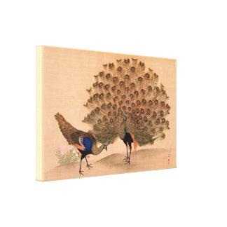Vintage Asian Peacock Canvas Print