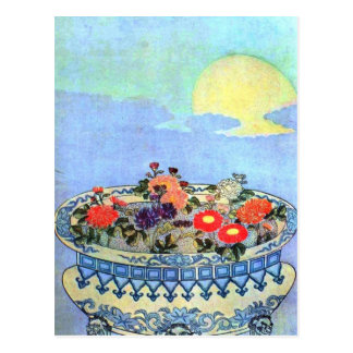 Vintage Asian Prints Postcard