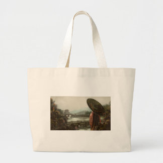 Vintage Asian Woman in Traditional Attire Large Tote Bag