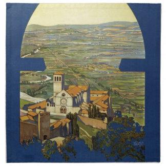 Vintage Assisi Travel Napkin