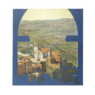 Vintage Assisi Travel Notepad
