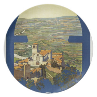 Vintage Assisi Travel Plate