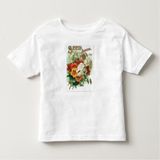 Vintage Assorted Flowers Seed Packet Toddler T-shirt