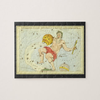 Vintage Astrology Aquarius Constellation Zodiac Jigsaw Puzzle