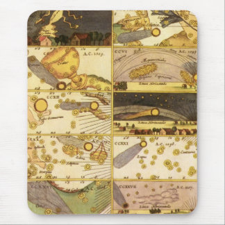 Vintage Astronomy, Antique Constellations Stars Mouse Pad