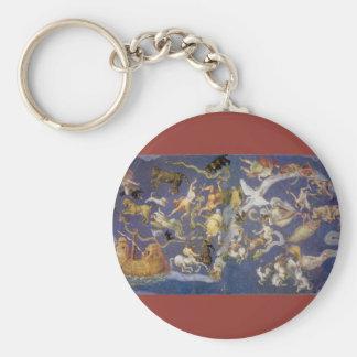 Vintage Astronomy Celestial Fresco, Constellations Basic Round Button Keychain