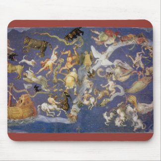Vintage Astronomy Celestial Fresco, Constellations Mouse Pad