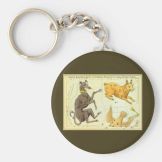 Vintage Astronomy, Celestial Map Star Chart in Sky Basic Round Button Keychain