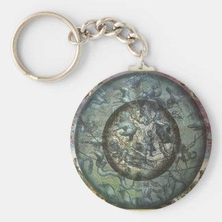 Vintage Astronomy Celestial Northern Constellation Basic Round Button Keychain