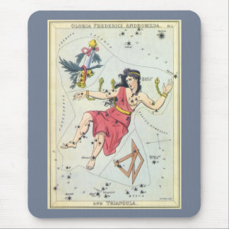 Vintage Astronomy, Constellation Stars, Andromeda Mouse Pad