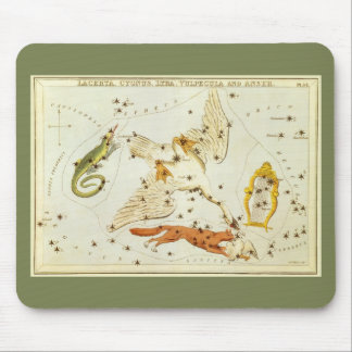 Vintage Astronomy, Constellations Stars Chart Map Mouse Pad