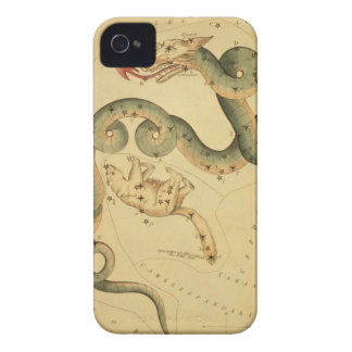 Vintage astronomy Draco dragon snake & Ursa Minor iPhone 4 Case