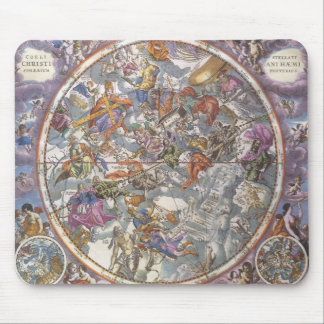 Vintage Astronomy, Map of Christian Constellations Mouse Pad
