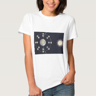 Vintage Astronomy, Phases of the Moon with Sun Tshirt