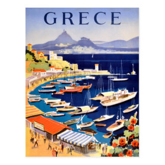 Vintage Athens Greece Travel Postcard