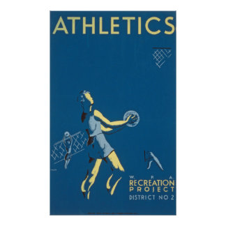 Vintage Athletics Recreation Poster