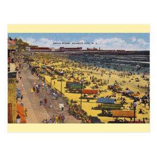 Vintage Atlantic City Beach Postcard