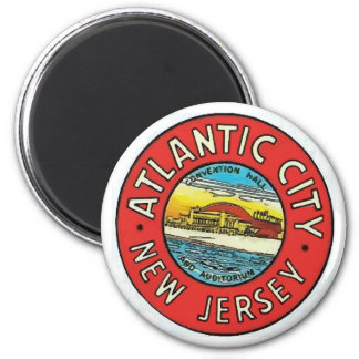 Vintage Atlantic City NJ Magnet