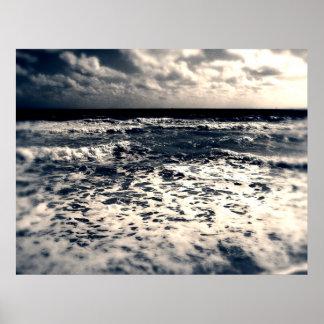 Vintage Atlantic Ocean Poster