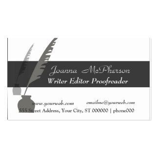 Vintage Attorney  Editor Writer Business Cards