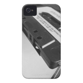 Vintage audio cassette tape on wooden table iPhone 4 Case-Mate case