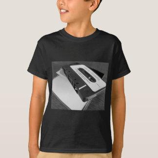 Vintage audio cassette tape on wooden table T-Shirt