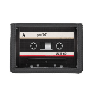 vintage audio cassette tape wallet