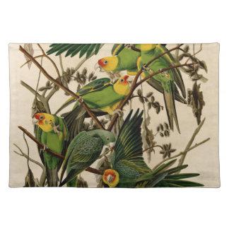 Vintage Audubon Parrot Placemat