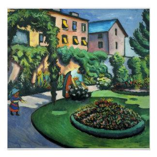 Vintage August Macke Garden Image Poster
