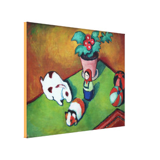 Vintage August Macke Little Walter`s Toys Canvas Print